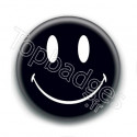 Badge : Smiley noir