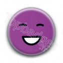 Badge : Smiley violet