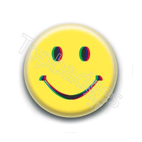 Badge : Smiley acid
