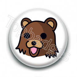 Badge : Tête de Pedobear