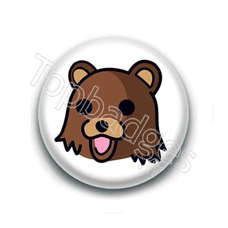 Badge : Tête de Pedobear