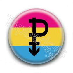 Badge : Drapeau symbole pansexuel