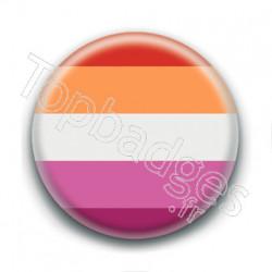 Badge : Drapeau fierté lesbienne