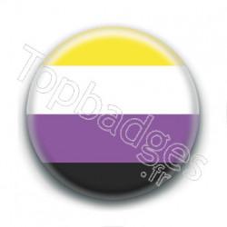 Badge : Drapeau non-binaire