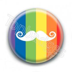 Badge : Moustache LGBTQ+