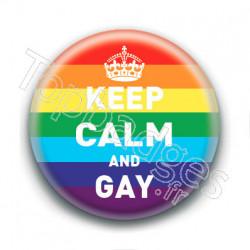Badge : Keep calm and gay