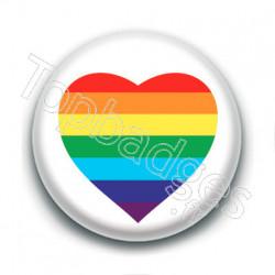 Badge : Cœur LGBTQIA+