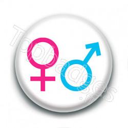 Badge : Symbole homme et femme
