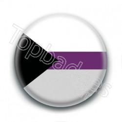 Badge : Drapeau demisexuel