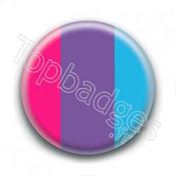 Badge : Drapeau androgyne
