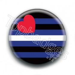 Badge : Drapeau cuir