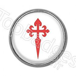 Pins rond : Croix de Saint Jacques