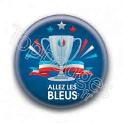 Badge : Allez les bleus, coupe