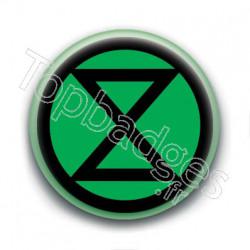 Badge : Extinction Rebellion XR, vert