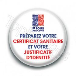 Badge : Préparez votre certificat sanitaire