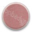 Badge vichy rouge