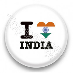 Badge I Love India