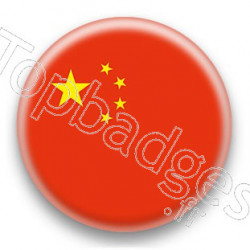 Badge drapeau Chine