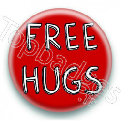 Badge Free Hugs