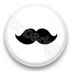 Badge Grosse moustache noire