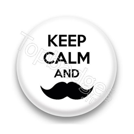 Badge Keep calm and mustach
