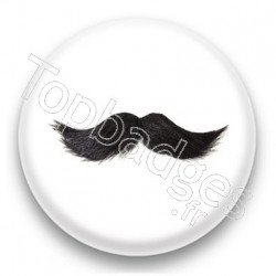 Badge Moustache grise
