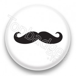 Badge Longue moustache grise
