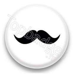 Badge Moustache noire 2