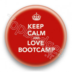 Badge Keep Calm And Love Bootcamp