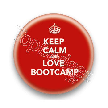 Badge Keep Calm And Love Bootcamp