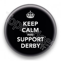Badge Keep Calm And Support Derby