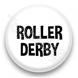 Badge Roller Derby fond blanc