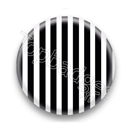 Badge Rayures noires et blanches