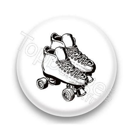 Badge Roller blanc