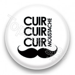 Badge cuir cuir cuir moustache