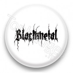 Badge Black metal