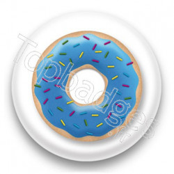 Badge Donuts bleu