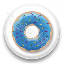 Badge Donuts bleu