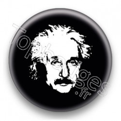 Badge Scientifique Albert Einstein Bichromie