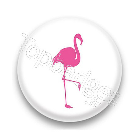 Badge Flamant rose