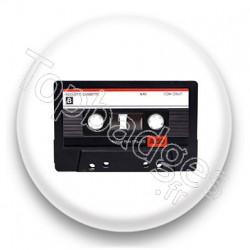 Badge Cassette Audio noire