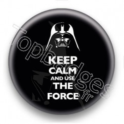 Badge Keep Calm And Use The Force