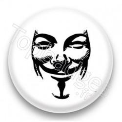 Badge Anonymous fond blanc