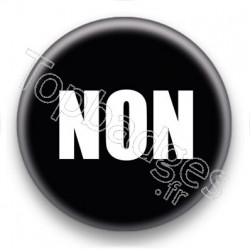 Badge Non fond noir