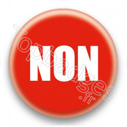 Badge Non fond rouge