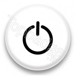 Badge Bouton Start Noir