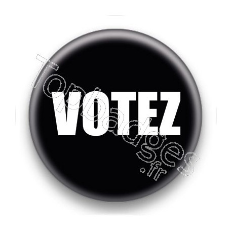Badge Votez fond noir