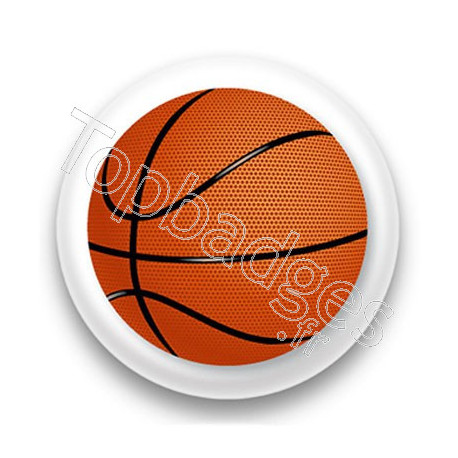 Badge ballon de basket
