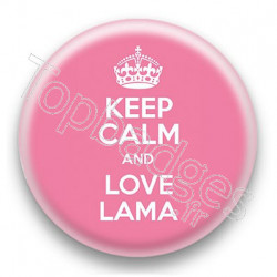 Badge Keep Calm and Love Lama