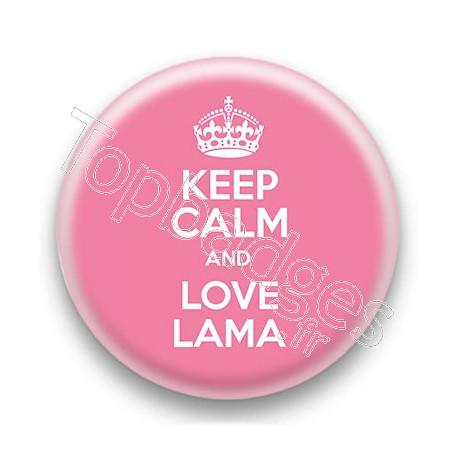 Badge Keep Calm and Love Lama